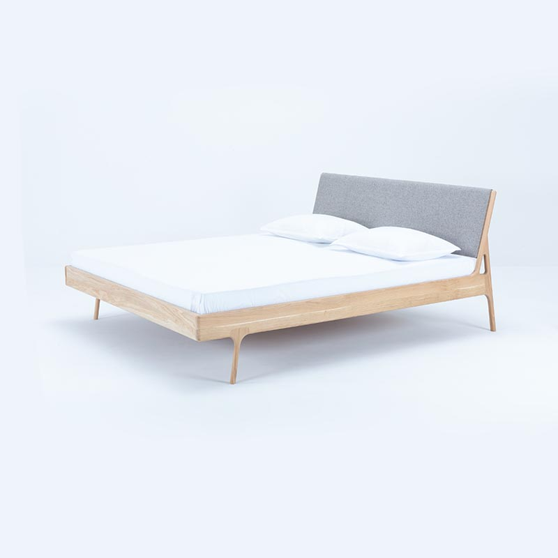 Gazzda Fawn Bed with Deep Frame by Salih Teskeredzic Olson and Baker - Designer & Contemporary Sofas, Furniture - Olson and Baker showcases original designs from authentic, designer brands. Buy contemporary furniture, lighting, storage, sofas & chairs at Olson + Baker.