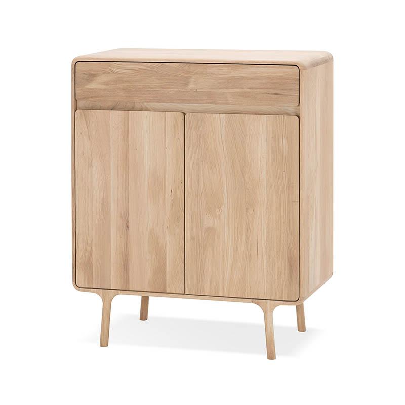 Gazzda Fawn Cabinet in Solid Oak by Salih Teskeredzic Olson and Baker - Designer & Contemporary Sofas, Furniture - Olson and Baker showcases original designs from authentic, designer brands. Buy contemporary furniture, lighting, storage, sofas & chairs at Olson + Baker.