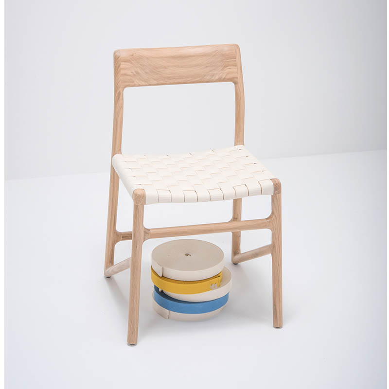 Gazzda_Fawn_Chair_140_by_Salih_Teskeredzic_Gazzda_-_1015_White_Solid_Oak_Oiled_with_2001_White_Cotton_Webbing_Headboard_02 Olson and Baker - Designer & Contemporary Sofas, Furniture - Olson and Baker showcases original designs from authentic, designer brands. Buy contemporary furniture, lighting, storage, sofas & chairs at Olson + Baker.