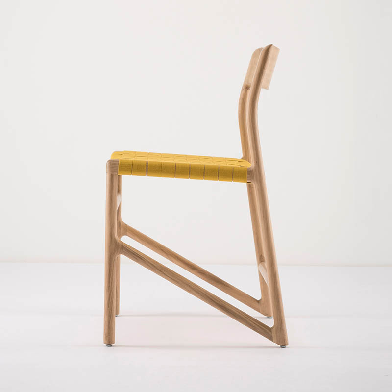 Gazzda_Fawn_Chair_140_by_Salih_Teskeredzic_Gazzda_-_1015_White_Solid_Oak_Oiled_with_4240_Yellow_Cotton_Webbing_Headboard_02 Olson and Baker - Designer & Contemporary Sofas, Furniture - Olson and Baker showcases original designs from authentic, designer brands. Buy contemporary furniture, lighting, storage, sofas & chairs at Olson + Baker.