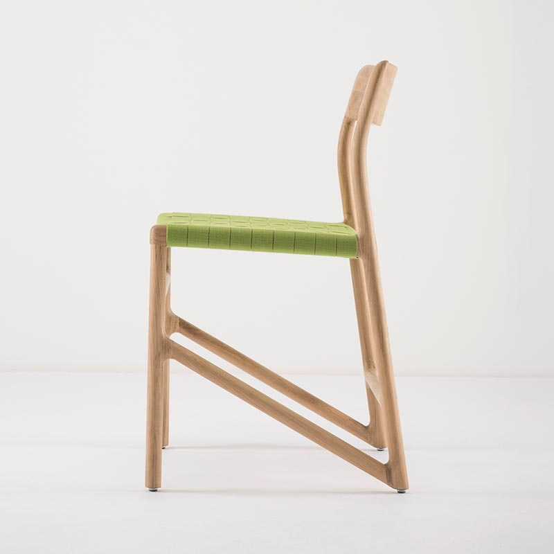 Gazzda_Fawn_Chair_140_by_Salih_Teskeredzic_Gazzda_-_1015_White_Solid_Oak_Oiled_with_4669_Green_Cotton_Webbing_Headboard_02 Olson and Baker - Designer & Contemporary Sofas, Furniture - Olson and Baker showcases original designs from authentic, designer brands. Buy contemporary furniture, lighting, storage, sofas & chairs at Olson + Baker.