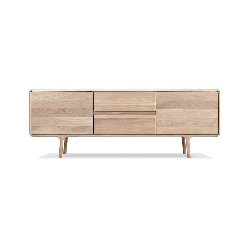 Gazzda Fawn Sideboard in Solid Oak by Salih Teskeredzic Olson and Baker - Designer & Contemporary Sofas, Furniture - Olson and Baker showcases original designs from authentic, designer brands. Buy contemporary furniture, lighting, storage, sofas & chairs at Olson + Baker.