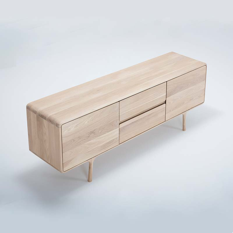 Gazzda_Fawn_Sideboard_in_Solid_Oak_by_Salih_Teskeredzic_180cm_02 Olson and Baker - Designer & Contemporary Sofas, Furniture - Olson and Baker showcases original designs from authentic, designer brands. Buy contemporary furniture, lighting, storage, sofas & chairs at Olson + Baker.