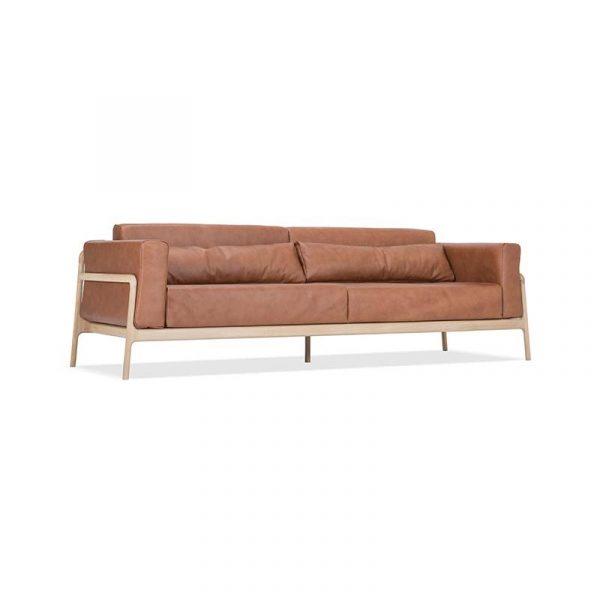 Fawn Three and a Half Seat Sofa