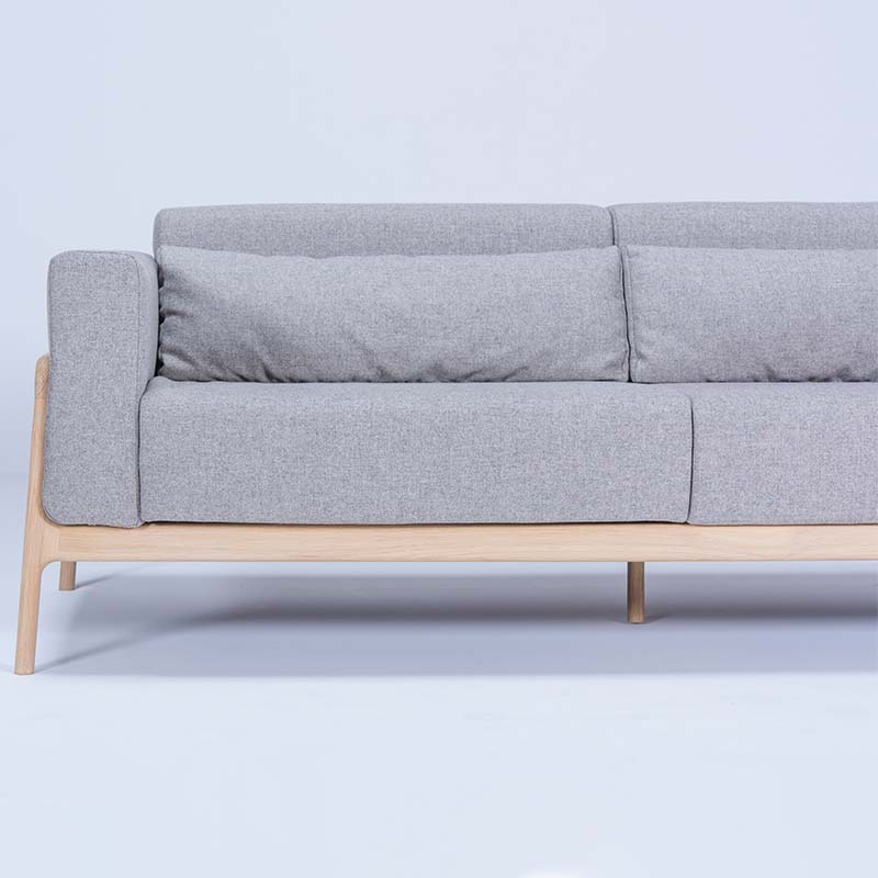 Gazzda_Fawn_Sofa_Three_Seater_by_Salih_Teskeredzic_Gazzda_-_1015_White_Solid_Oak_Oiled_with_MLF02_Archway_Main_Line_Flax_Upholstery_02 Olson and Baker - Designer & Contemporary Sofas, Furniture - Olson and Baker showcases original designs from authentic, designer brands. Buy contemporary furniture, lighting, storage, sofas & chairs at Olson + Baker.