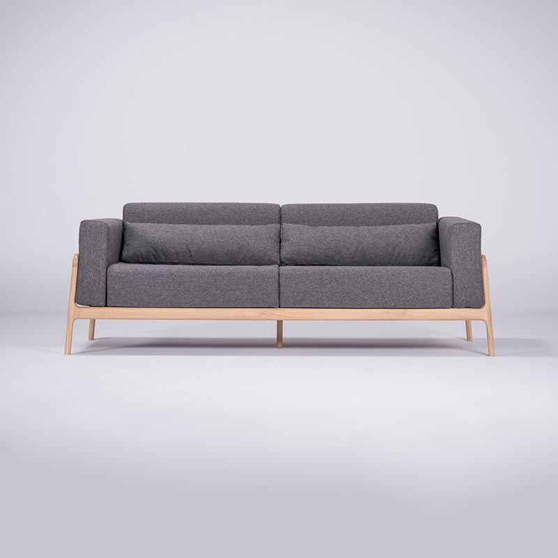 Gazzda Fawn Three Seat Sofa by Salih Teskeredzic Olson and Baker - Designer & Contemporary Sofas, Furniture - Olson and Baker showcases original designs from authentic, designer brands. Buy contemporary furniture, lighting, storage, sofas & chairs at Olson + Baker.