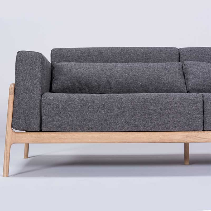 Gazzda_Fawn_Sofa_Three_Seater_by_Salih_Teskeredzic_Gazzda_-_1015_White_Solid_Oak_Oiled_with_MLF16_Temple_Main_Line_Flax_Upholstery_02 Olson and Baker - Designer & Contemporary Sofas, Furniture - Olson and Baker showcases original designs from authentic, designer brands. Buy contemporary furniture, lighting, storage, sofas & chairs at Olson + Baker.