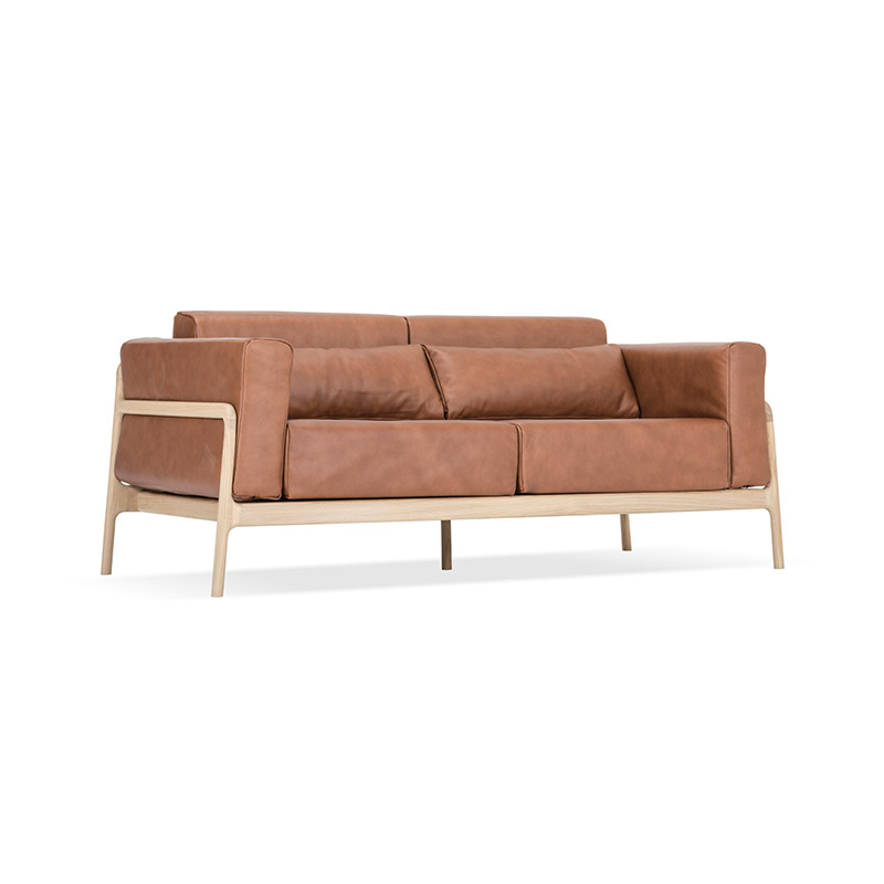 Gazzda Fawn Two Seat Sofa by Salih Teskeredzic Olson and Baker - Designer & Contemporary Sofas, Furniture - Olson and Baker showcases original designs from authentic, designer brands. Buy contemporary furniture, lighting, storage, sofas & chairs at Olson + Baker.
