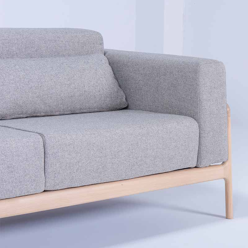 Gazzda_Fawn_Sofa_Two_Seater_by_Salih_Teskeredzic_Gazzda_-_1015_White_Solid_Oak_Oiled_with_MLF02_Archway_Main_Line_Flax_Upholstery_02 Olson and Baker - Designer & Contemporary Sofas, Furniture - Olson and Baker showcases original designs from authentic, designer brands. Buy contemporary furniture, lighting, storage, sofas & chairs at Olson + Baker.
