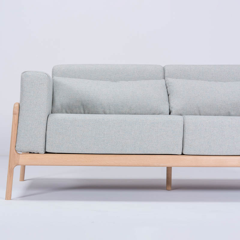 Gazzda_Fawn_Sofa_Two_Seater_by_Salih_Teskeredzic_Gazzda_-_1015_White_Solid_Oak_Oiled_with_MLF10_Newbury_Main_Line_Flax_Upholstery_02 Olson and Baker - Designer & Contemporary Sofas, Furniture - Olson and Baker showcases original designs from authentic, designer brands. Buy contemporary furniture, lighting, storage, sofas & chairs at Olson + Baker.