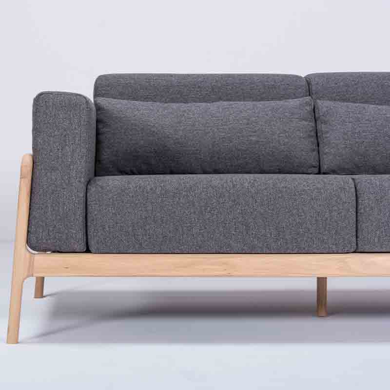 Gazzda_Fawn_Sofa_Two_Seater_by_Salih_Teskeredzic_Gazzda_-_1015_White_Solid_Oak_Oiled_with_MLF16_Temple_Main_Line_Flax_Upholstery_02 Olson and Baker - Designer & Contemporary Sofas, Furniture - Olson and Baker showcases original designs from authentic, designer brands. Buy contemporary furniture, lighting, storage, sofas & chairs at Olson + Baker.