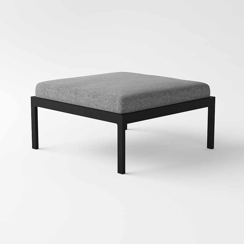 Case_Furniture_Eos_Ottoman_by_Matthew_Hilton_Black_Angle Olson and Baker - Designer & Contemporary Sofas, Furniture - Olson and Baker showcases original designs from authentic, designer brands. Buy contemporary furniture, lighting, storage, sofas & chairs at Olson + Baker.