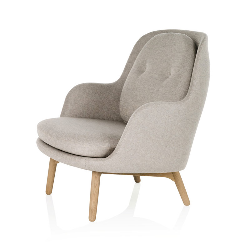 Fritz Hansen Fri Lounge Chair with Wooden Base by Jaime Hayon Olson and Baker - Designer & Contemporary Sofas, Furniture - Olson and Baker showcases original designs from authentic, designer brands. Buy contemporary furniture, lighting, storage, sofas & chairs at Olson + Baker.