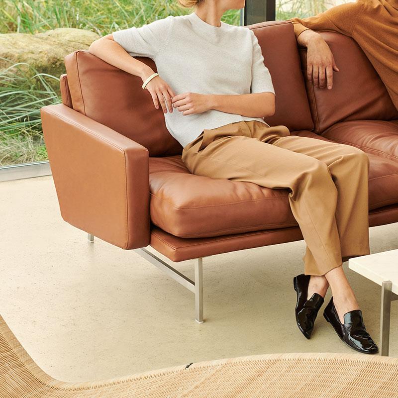 Fritz Hansen - Lissoni Two Seat Sofa by Piero Lissoni Lifeshot 03 Olson and Baker - Designer & Contemporary Sofas, Furniture - Olson and Baker showcases original designs from authentic, designer brands. Buy contemporary furniture, lighting, storage, sofas & chairs at Olson + Baker.