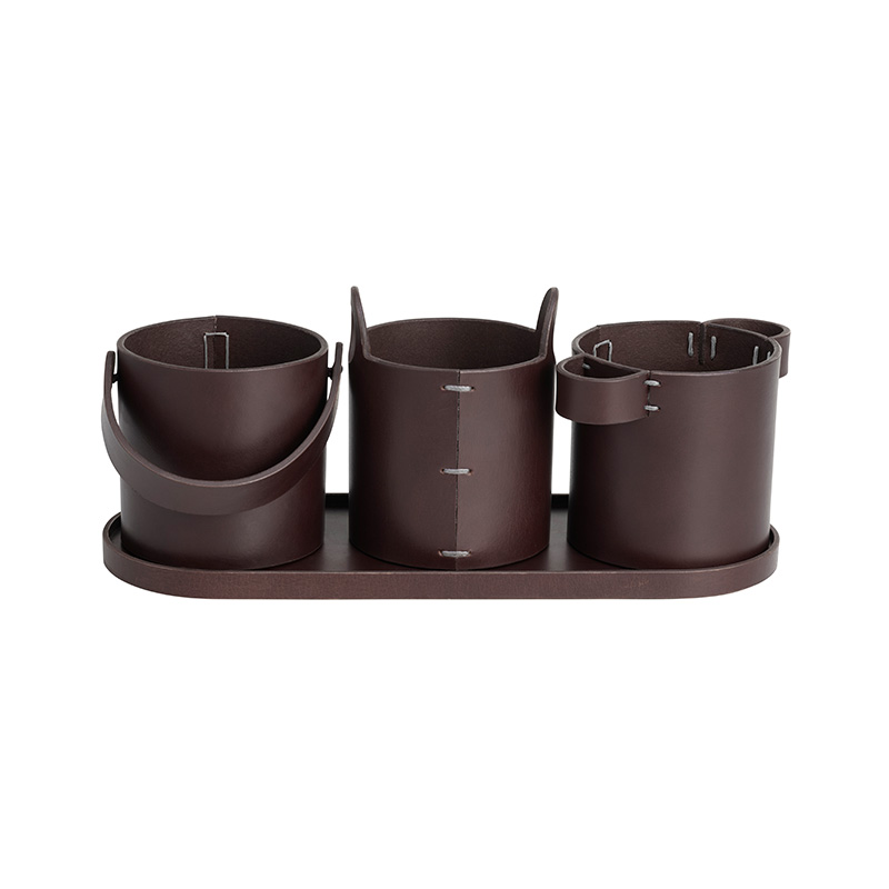 Fritz Hansen Buckets Desk Organizer by Mia Lagerman Olson and Baker - Designer & Contemporary Sofas, Furniture - Olson and Baker showcases original designs from authentic, designer brands. Buy contemporary furniture, lighting, storage, sofas & chairs at Olson + Baker.