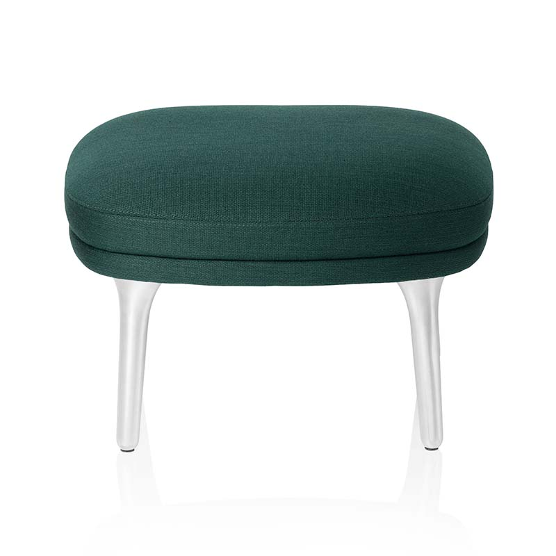 Fritz Hansen Fri Foot Stool with Aluminum Base by Jaime Hayon Olson and Baker - Designer & Contemporary Sofas, Furniture - Olson and Baker showcases original designs from authentic, designer brands. Buy contemporary furniture, lighting, storage, sofas & chairs at Olson + Baker.
