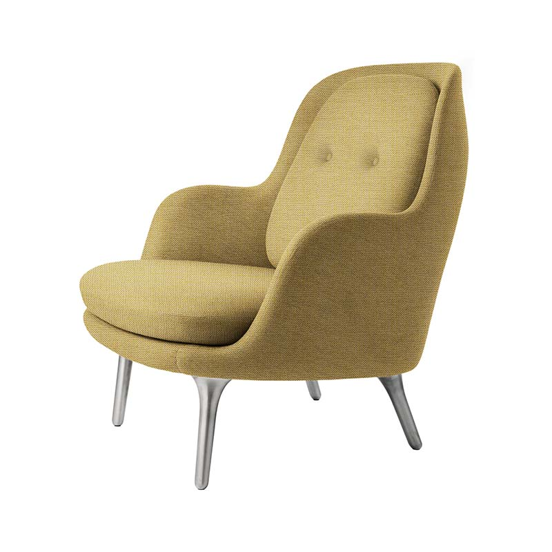 Fritz Hansen Fri Lounge Chair with Aluminum Base by Jaime Hayon Olson and Baker - Designer & Contemporary Sofas, Furniture - Olson and Baker showcases original designs from authentic, designer brands. Buy contemporary furniture, lighting, storage, sofas & chairs at Olson + Baker.