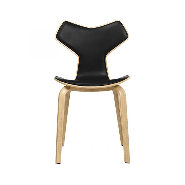 Grand Prix Front Upholstered Chair with Wood Legs