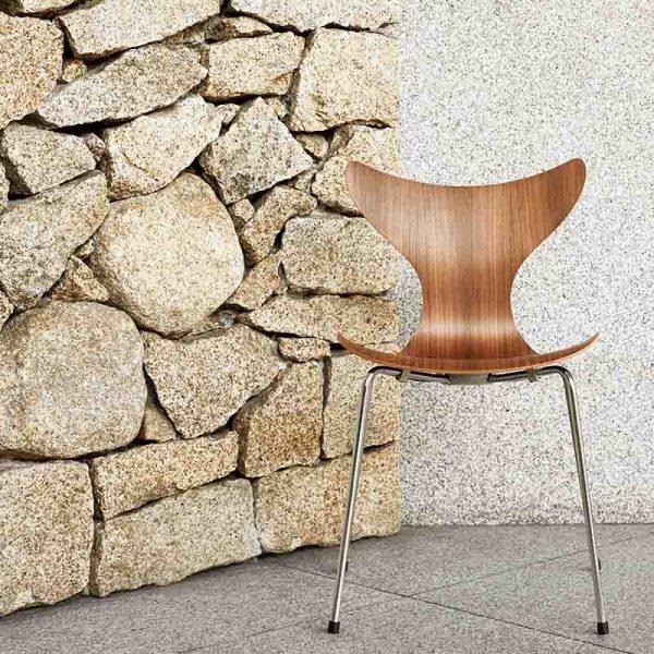Lily Chair in Walnut Veneer
