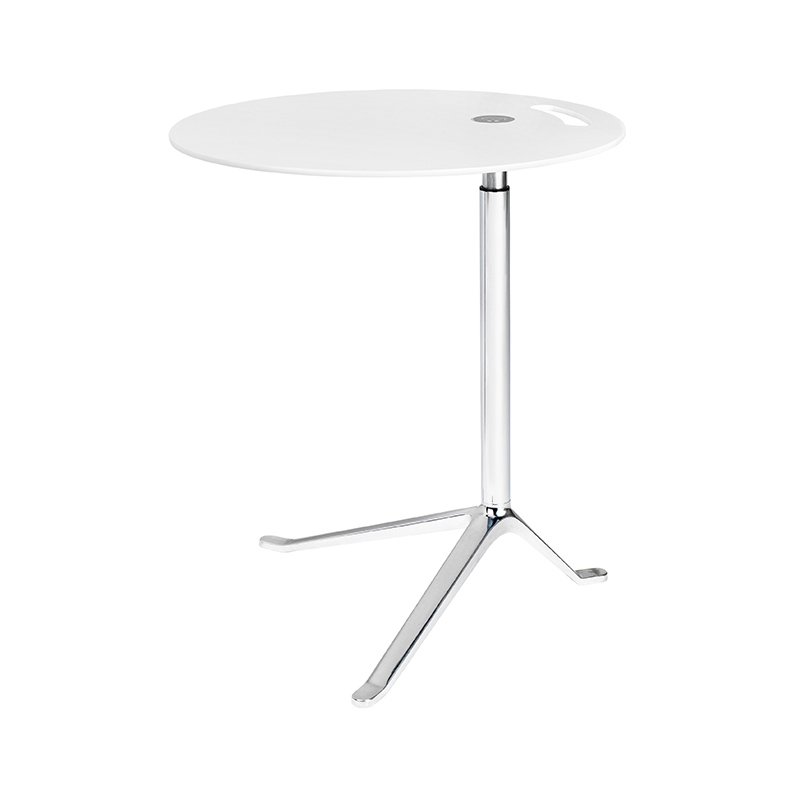 Fritz Hansen Little Friend Side Table with Adjustable Height by Kasper Salto Olson and Baker - Designer & Contemporary Sofas, Furniture - Olson and Baker showcases original designs from authentic, designer brands. Buy contemporary furniture, lighting, storage, sofas & chairs at Olson + Baker.