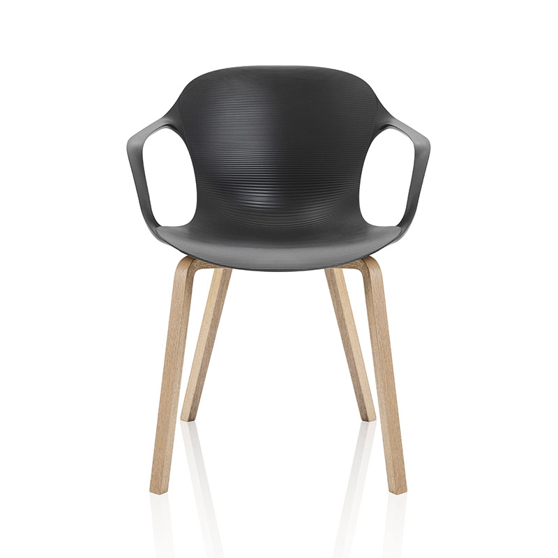 Fritz Hansen NAP Armchair with Wood Legs by Kasper Salto Olson and Baker - Designer & Contemporary Sofas, Furniture - Olson and Baker showcases original designs from authentic, designer brands. Buy contemporary furniture, lighting, storage, sofas & chairs at Olson + Baker.