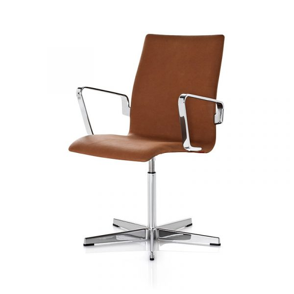 Oxford Classic Low Back Armchair with Fixed Swivel Base
