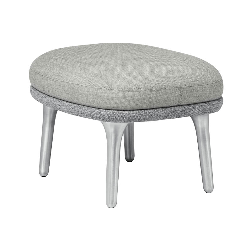Fritz Hansen Ro Foot Stool with Aluminum Base by Jaime Hayon Olson and Baker - Designer & Contemporary Sofas, Furniture - Olson and Baker showcases original designs from authentic, designer brands. Buy contemporary furniture, lighting, storage, sofas & chairs at Olson + Baker.