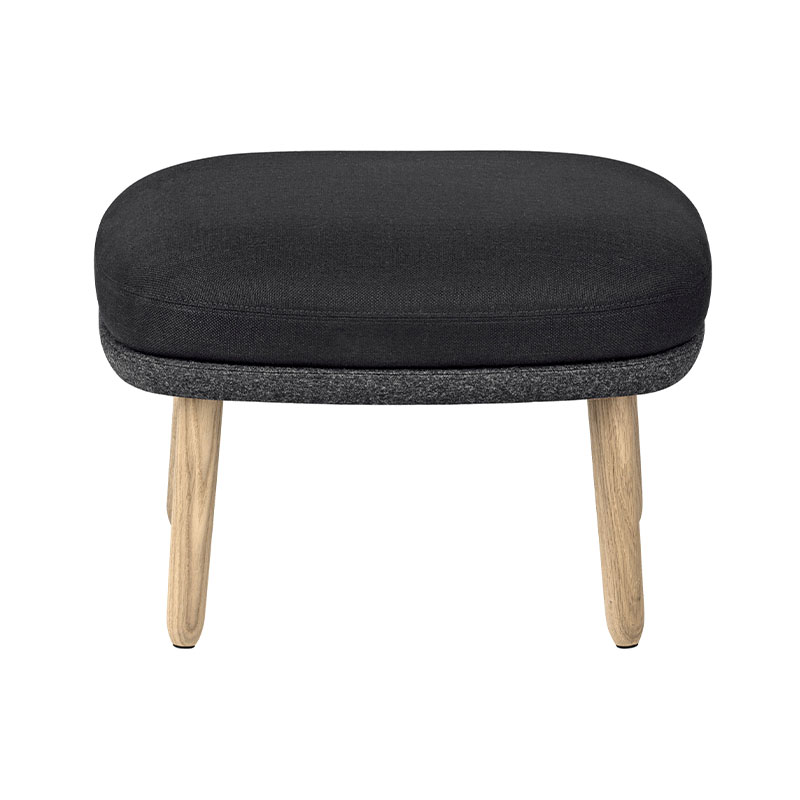Fritz Hansen Fri Foot Stool with Wooden Base by Jaime Hayon Olson and Baker - Designer & Contemporary Sofas, Furniture - Olson and Baker showcases original designs from authentic, designer brands. Buy contemporary furniture, lighting, storage, sofas & chairs at Olson + Baker.