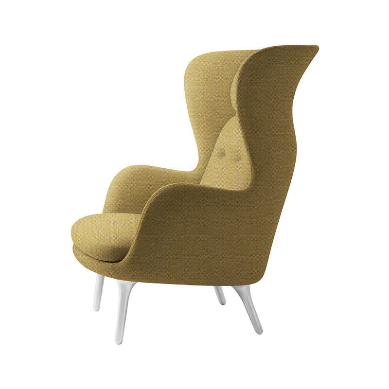 Fritz Hansen Ro Lounge Chair with Aluminum Base by Jaime Hayon Olson and Baker - Designer & Contemporary Sofas, Furniture - Olson and Baker showcases original designs from authentic, designer brands. Buy contemporary furniture, lighting, storage, sofas & chairs at Olson + Baker.