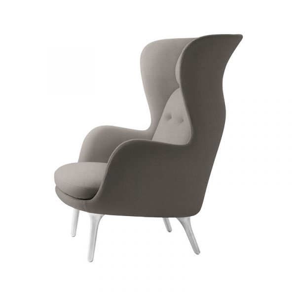 Ro Lounge Chair with Aluminum Base