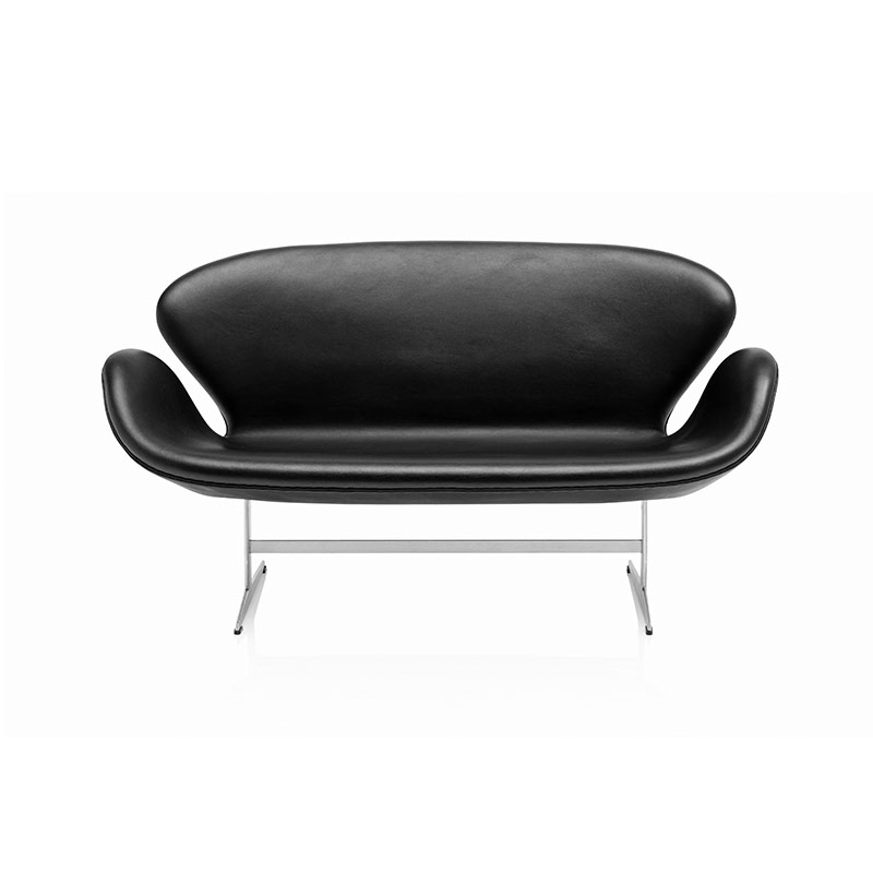 Fritz Hansen Swan Two Seat Sofa by Arne Jacobsen Olson and Baker - Designer & Contemporary Sofas, Furniture - Olson and Baker showcases original designs from authentic, designer brands. Buy contemporary furniture, lighting, storage, sofas & chairs at Olson + Baker.