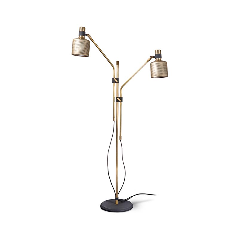 Bert Frank Riddle Double Floor Lamp by Bert Frank Olson and Baker - Designer & Contemporary Sofas, Furniture - Olson and Baker showcases original designs from authentic, designer brands. Buy contemporary furniture, lighting, storage, sofas & chairs at Olson + Baker.
