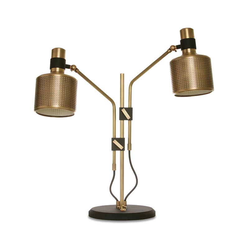Bert Frank Riddle Table Lamp Double by Bert Frank Olson and Baker - Designer & Contemporary Sofas, Furniture - Olson and Baker showcases original designs from authentic, designer brands. Buy contemporary furniture, lighting, storage, sofas & chairs at Olson + Baker.