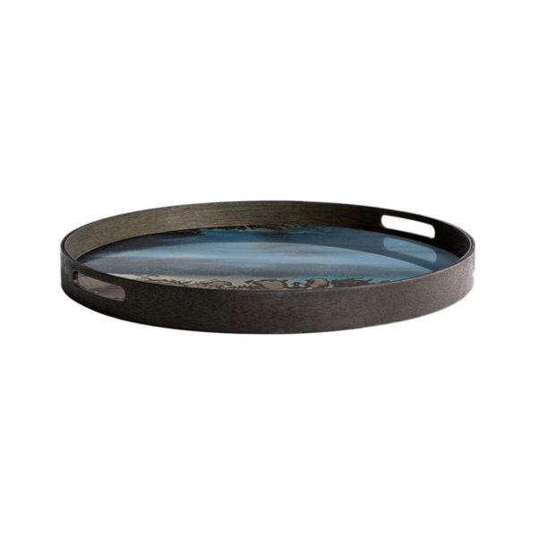 Slate Organic Round Glass Tray