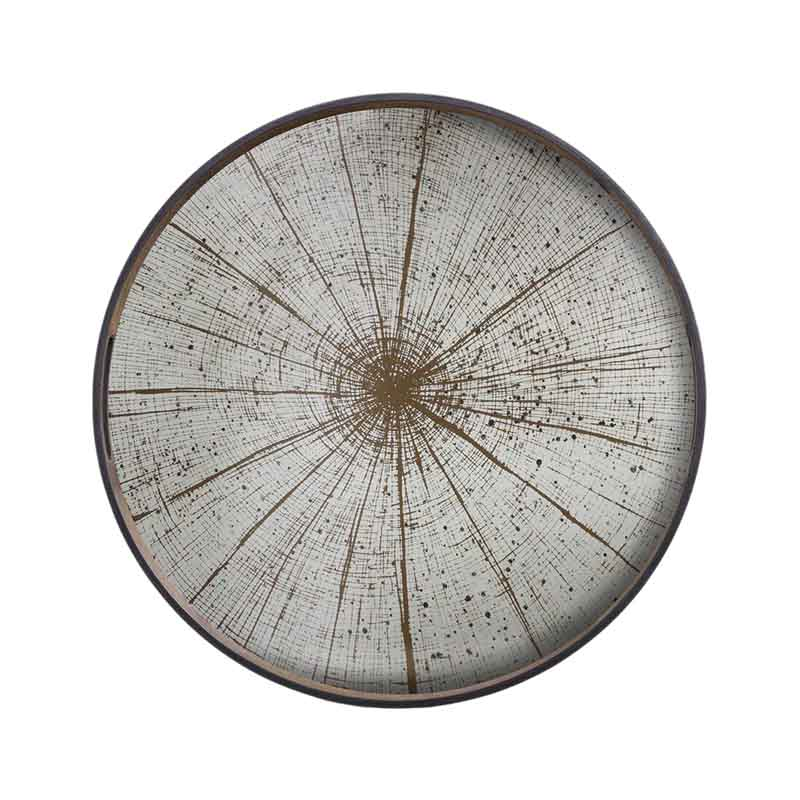Ethnicraft Slice Round Mirror Tray by Dawn Sweitzer Olson and Baker - Designer & Contemporary Sofas, Furniture - Olson and Baker showcases original designs from authentic, designer brands. Buy contemporary furniture, lighting, storage, sofas & chairs at Olson + Baker.