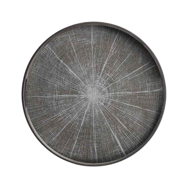 Ethnicraft White Slice Round Wooden Tray by Dawn Sweitzer Olson and Baker - Designer & Contemporary Sofas, Furniture - Olson and Baker showcases original designs from authentic, designer brands. Buy contemporary furniture, lighting, storage, sofas & chairs at Olson + Baker.