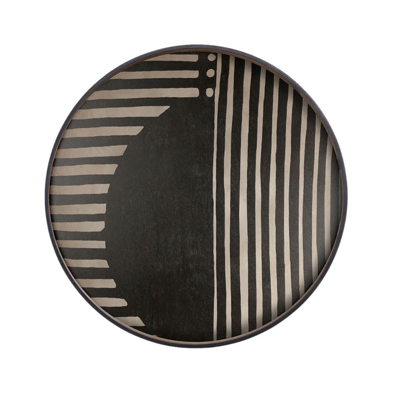 Ethnicraft Asymmetric Dot Round Wooden Tray by Dawn Sweitzer Olson and Baker - Designer & Contemporary Sofas, Furniture - Olson and Baker showcases original designs from authentic, designer brands. Buy contemporary furniture, lighting, storage, sofas & chairs at Olson + Baker.