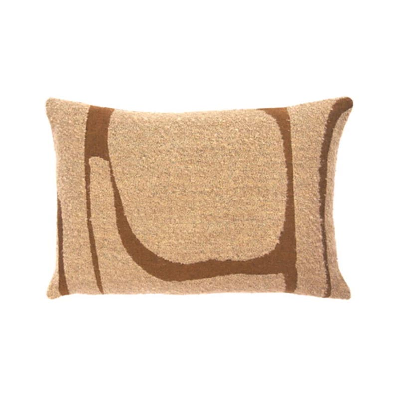 Ethnicraft Avana Abstract 60x40cm Cushion by Ethnicraft Design Studio Olson and Baker - Designer & Contemporary Sofas, Furniture - Olson and Baker showcases original designs from authentic, designer brands. Buy contemporary furniture, lighting, storage, sofas & chairs at Olson + Baker.