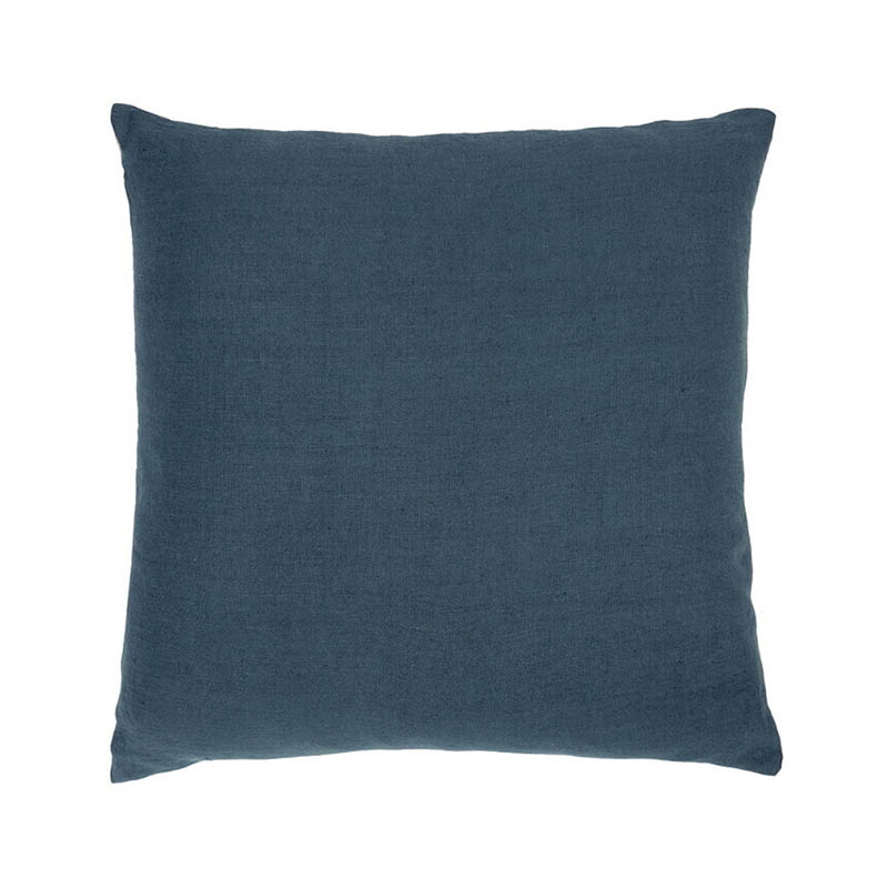 Ethnicraft Blue Lin Sauvage 60x60cm Cushion by Ethnicraft Design Studio Olson and Baker - Designer & Contemporary Sofas, Furniture - Olson and Baker showcases original designs from authentic, designer brands. Buy contemporary furniture, lighting, storage, sofas & chairs at Olson + Baker.