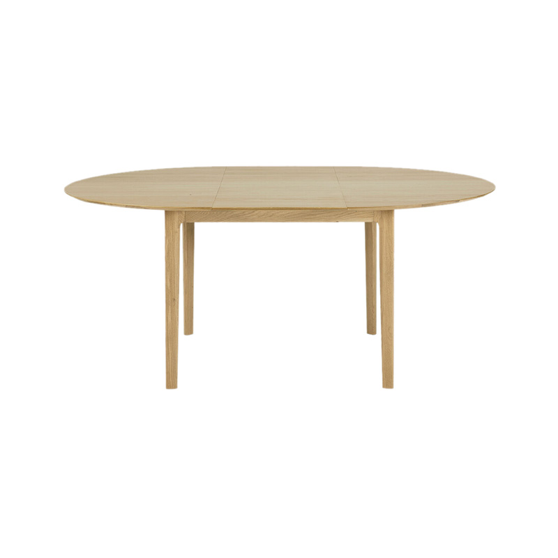 Ethnicraft Bok 129-179cm Round Extendable Dining Table by Alain Van Havre Olson and Baker - Designer & Contemporary Sofas, Furniture - Olson and Baker showcases original designs from authentic, designer brands. Buy contemporary furniture, lighting, storage, sofas & chairs at Olson + Baker.