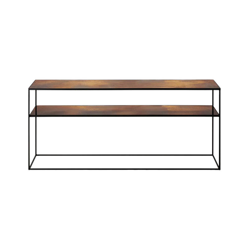 Ethnicraft Bronze Copper Sofa Console by Dawn Sweitzer Olson and Baker - Designer & Contemporary Sofas, Furniture - Olson and Baker showcases original designs from authentic, designer brands. Buy contemporary furniture, lighting, storage, sofas & chairs at Olson + Baker.