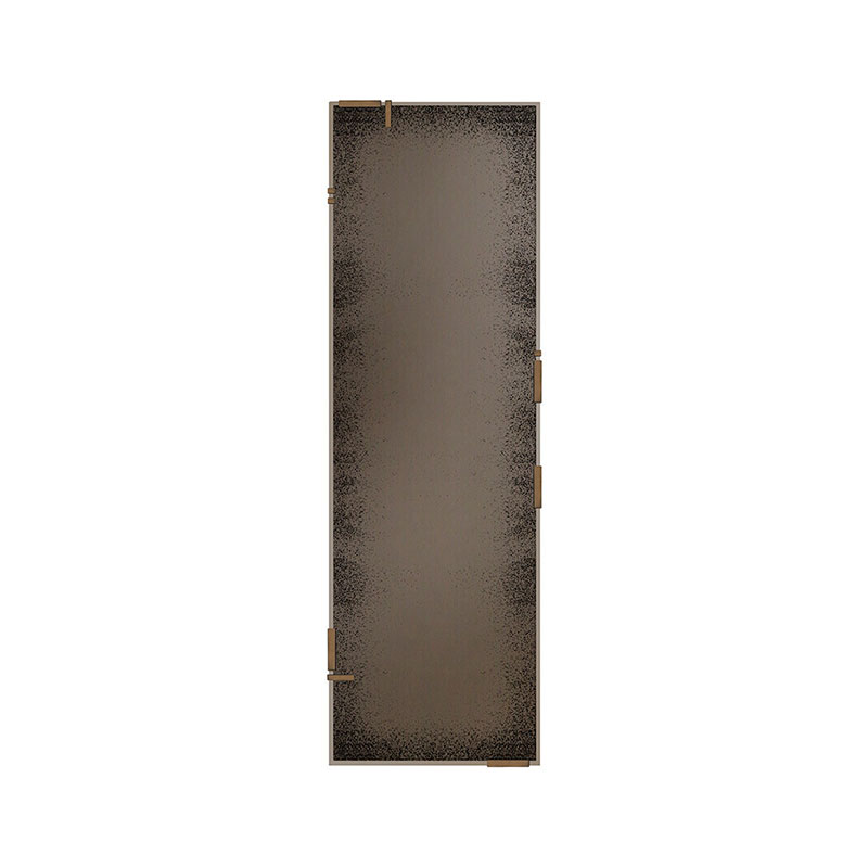 Ethnicraft Bronze Frameless Floor Mirror by Dawn Sweitzer Olson and Baker - Designer & Contemporary Sofas, Furniture - Olson and Baker showcases original designs from authentic, designer brands. Buy contemporary furniture, lighting, storage, sofas & chairs at Olson + Baker.