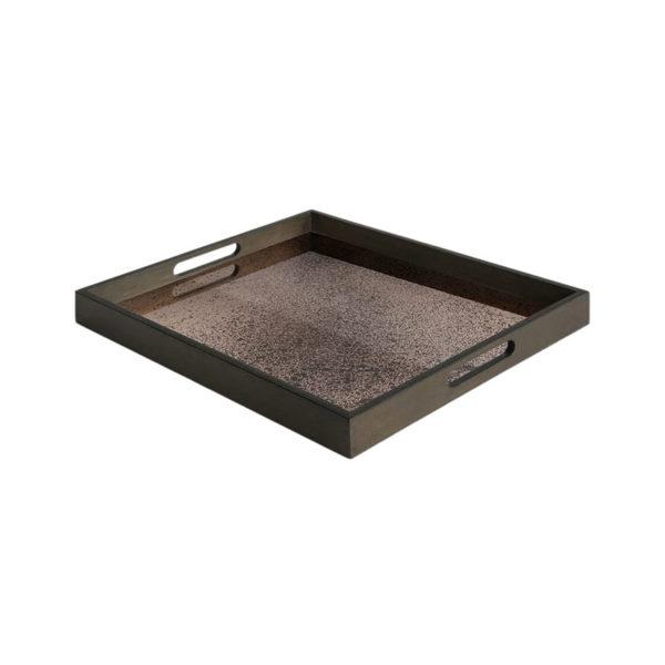 Bronze Rectangular Mirror Tray