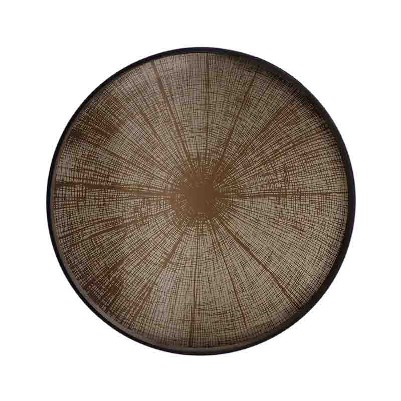 Ethnicraft Bronze Slice Round Mirror Tray by Dawn Sweitzer Olson and Baker - Designer & Contemporary Sofas, Furniture - Olson and Baker showcases original designs from authentic, designer brands. Buy contemporary furniture, lighting, storage, sofas & chairs at Olson + Baker.