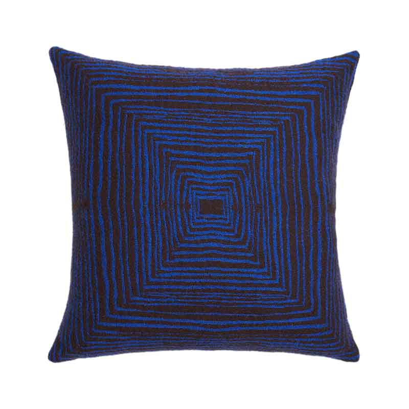 Ethnicraft Brown Linear 45x45cm Cushion by Dawn Sweitzer Olson and Baker - Designer & Contemporary Sofas, Furniture - Olson and Baker showcases original designs from authentic, designer brands. Buy contemporary furniture, lighting, storage, sofas & chairs at Olson + Baker.
