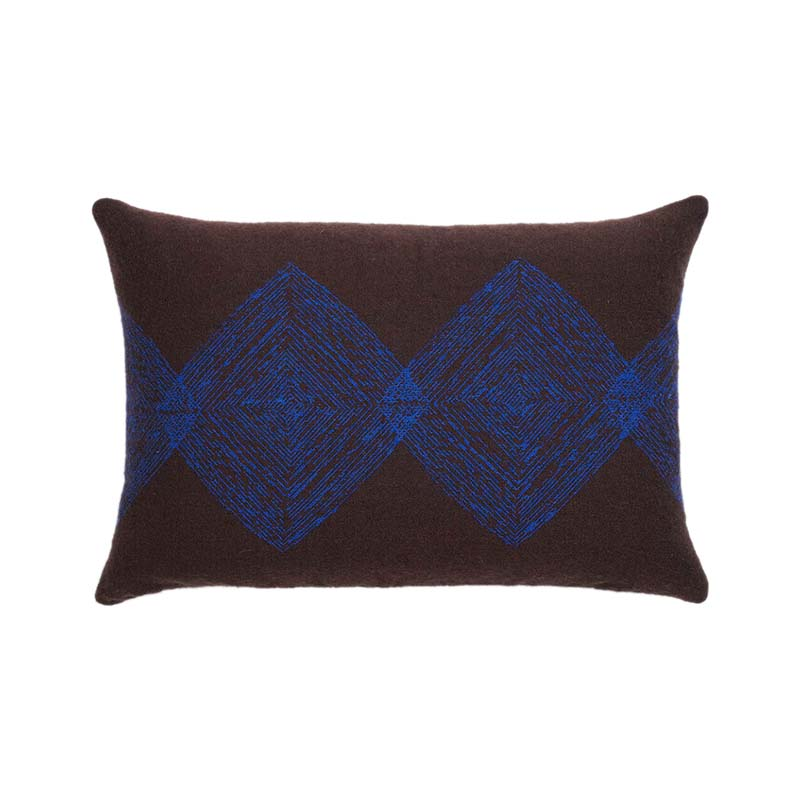 Ethnicraft Brown Linear Diamonds 60x40cm Cushion by Dawn Sweitzer Olson and Baker - Designer & Contemporary Sofas, Furniture - Olson and Baker showcases original designs from authentic, designer brands. Buy contemporary furniture, lighting, storage, sofas & chairs at Olson + Baker.