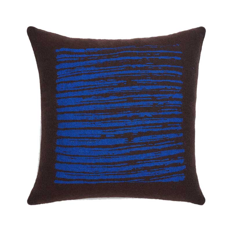 Ethnicraft Brown Lines 45x45cm Cushion by Dawn Sweitzer Olson and Baker - Designer & Contemporary Sofas, Furniture - Olson and Baker showcases original designs from authentic, designer brands. Buy contemporary furniture, lighting, storage, sofas & chairs at Olson + Baker.