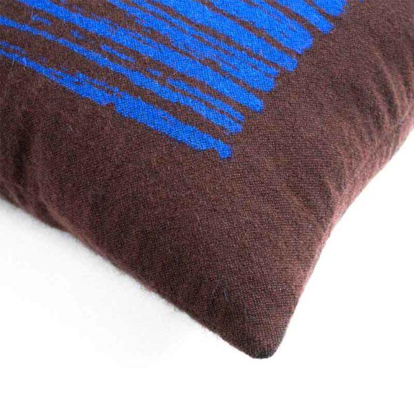 Brown Lines 45x45cm Cushion