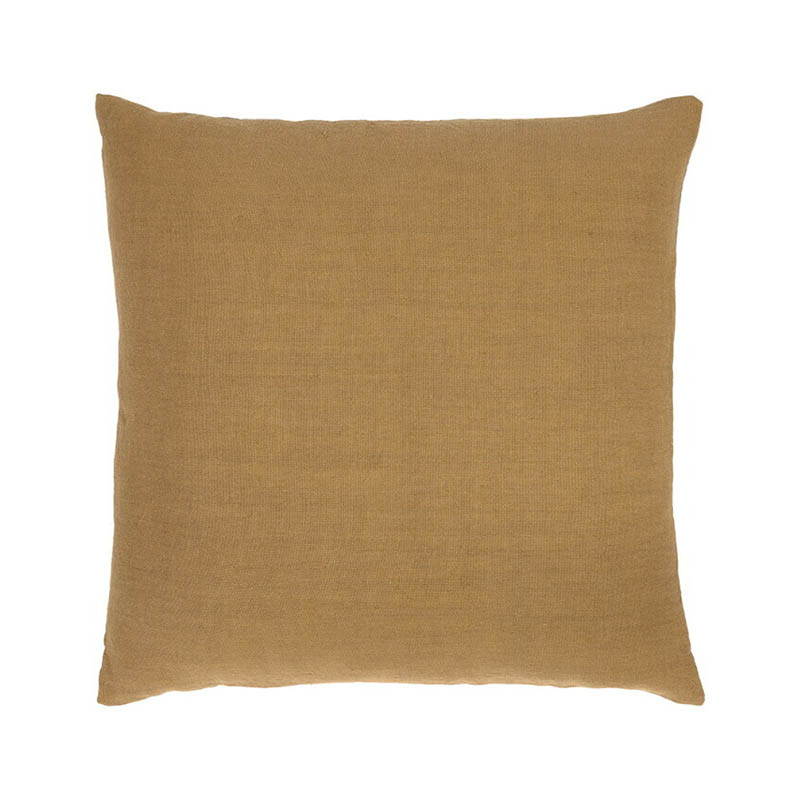 Ethnicraft Camel Lin Sauvage 60x60cm Cushion by Ethnicraft Design Studio Olson and Baker - Designer & Contemporary Sofas, Furniture - Olson and Baker showcases original designs from authentic, designer brands. Buy contemporary furniture, lighting, storage, sofas & chairs at Olson + Baker.