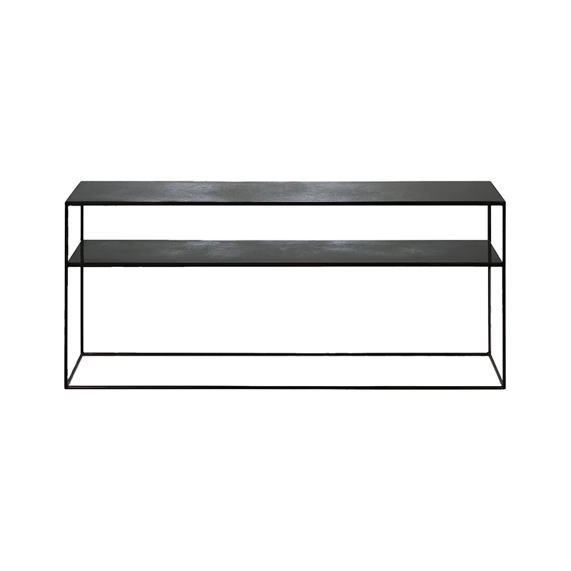 Ethnicraft Charcoal Sofa Console by Dawn Sweitzer Olson and Baker - Designer & Contemporary Sofas, Furniture - Olson and Baker showcases original designs from authentic, designer brands. Buy contemporary furniture, lighting, storage, sofas & chairs at Olson + Baker.